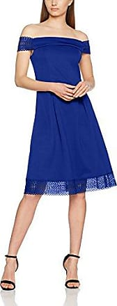 Dorothy Perkins Lace Scuba Fit and Flare, Vestido para Mujer, Azul (Navy Blue 110), 36