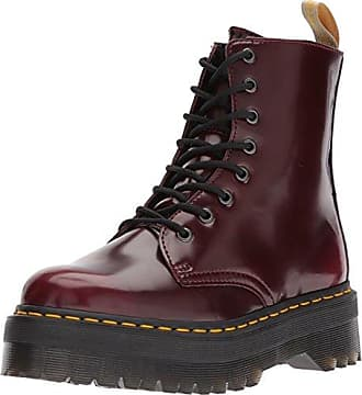 Dr. Martens JADON II Vegan Boot Cherry Red Cambridge Brush Rot Weinrot 22563600, Groesse:40 EU / 6.5 UK / 8.5 US