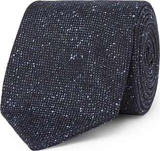8cm Textured Silk And Cotton-blend Tie Drake's