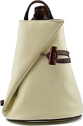 Echtes Leder Schultertasche Farbe Beige - Italienische Lederwaren - Damentasche Dream Leather Bags Made in Italy