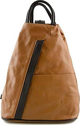Leder Damen Henkeltasche Farbe Cognac - Italienische Lederwaren - Damentasche Dream Leather Bags Made in Italy