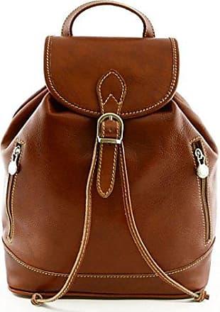 17d10e2e3503f Aus Deutschland Rucksack Für Damen Aus Echtem Leder Farbe Dunkelbraun - Italienische  Lederwaren - Rucksack Dream