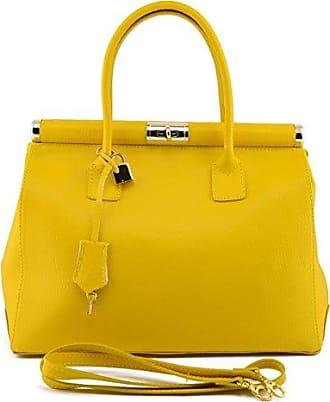 Tasche Aus Echtem Leder Für Damen Farbe Schwarz - Italienische Lederwaren - Damentasche Dream Leather Bags Made in Italy