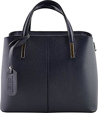 Schultertasche Aus Echtem Leder Farbe Dunkelblau - Italienische Lederwaren - Damentasche Dream Leather Bags Made in Italy