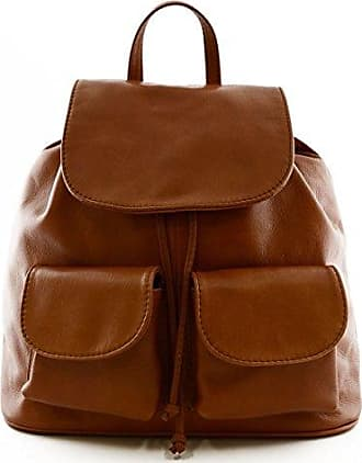Damen Leder Handtasche Farbe Cognac - Italienische Lederwaren - Damentasche Dream Leather Bags Made in Italy