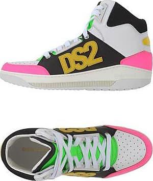 Dsquared2 Sneaker calfskin nubuck smooth leather textile Logo multicoloured