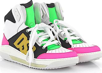 Sneaker calfskin nubuck smooth leather textile Logo multicoloured Dsquared2