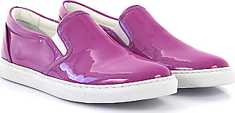 Sneaker calfskin patent leather purple Dsquared2