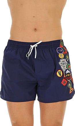 Swim Shorts Trunks for Men On Sale, Blue, polyamide, 2017, M (EU 48) XL (EU 52) Dsquared2