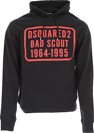 Sweatshirt for Women On Sale, Black, Cotton, 2017, 6 Dsquared2