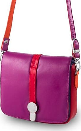 Sac porté épaule en cuir - Colorful Collection - Barbara - Violet DuDu