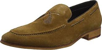 Dune Brooking, Zapatos de Cordones Brogue para Hombre, Marrn (Tan-Suede Tan-Suede), 46 EU
