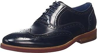 Dune Robb, Zapatos de Cordones Oxford para Hombre, Negro (Black-Leather Black-Leather), 44 EU