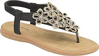 Dunlop Damen Slingback, Schwarz - Black. - Größe: 39 EU