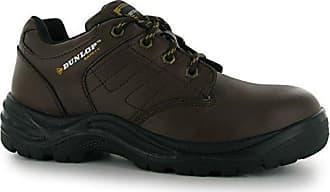 Herren Kansas Safety Sicherheitsschuhe Arbeitsschuhe Leder Schutzschuhe Braun 9.5 (44) Dunlop