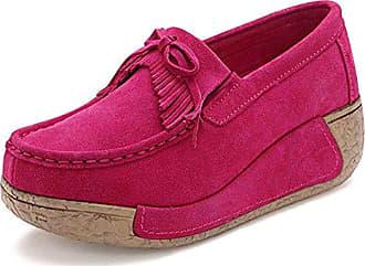 Clarks Glove Puppet Coral Nubuck, Schuhe, Flache Schuhe, Loafer, Pink, Female, 36