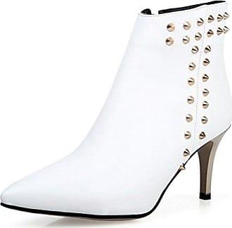 3572c43a8917 Easemax Damen Modern Peep Toe Lace Up Kurzschaft High Heels Sandalen Boots  36 EURot - nachhilfe-logo.de