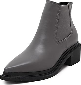 Easemax Damen Modisch Spitze Zehe Low Top Chelsea Boots Stiefel Mit Absatz Grau 37 EU