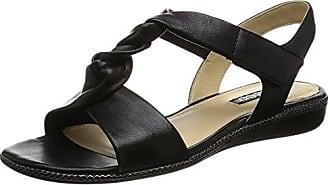 Bouillon Sandal 3.0, Sandales Bout Ouvert Femme - Noir - Schwarz (1001BLACK), 42Ecco