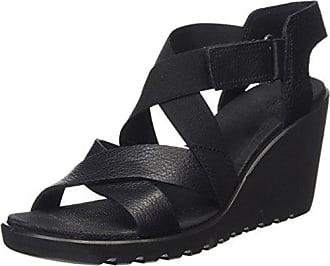 Eccoecco Freja Wedge Sandal - Sandalias de Punta Descubierta Mujer, Color Negro, Talla 40 Ecco