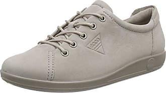 Ecco Soft 2.0 - Zapatos con Cordones de Cuero, Mujer, Blanco (WHITE1007), 39