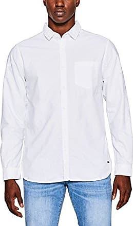 087cc2f009, Chemise Casual Homme, Blanc (White 100), SmallEDC by Esprit