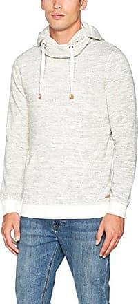 4 Zip, Sweat-Shirt à Capuche Homme, Ecru (Off-White), S