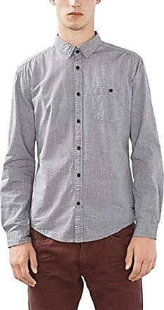 106EE2F031 - Basic, Chemise Casual Homme, Gris (Grey), MediumEsprit