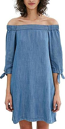 086CC1E027, Robe Femme, Bleu (Blue Dark Wash), 36 (Taille Fabricant: Small)EDC by Esprit