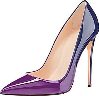 SHOWHOW Damen Elegant Satin Spitz Zehe Low Top Stiletto Pumps Beige 36 EU