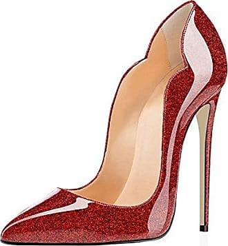 SHOWHOW Damen Eleganat Geschlossen Gradient Low Top High Heels Pumps Rot 38 EU