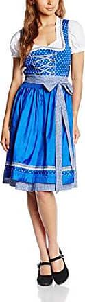 WIGE499, Dirndl Femme, Multicolore (Blau), 40Edel Herz