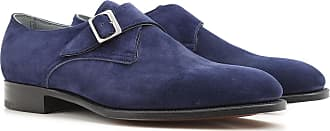 Loafers for Men On Sale, Indigo Blue, Suede leather, 2017, UK 7.5 - 8 UK 8 - 8.5 Edward Green