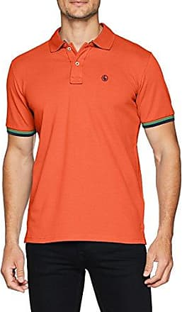 1100s180034, Polo para Hombre, Naranja, X-Large (Tamaño del Fabricante:XL) El Ganso