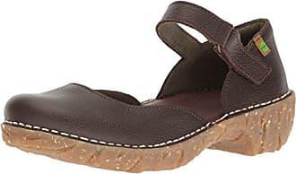 N376, Zapatos Mary Jane Mujer, Marrón (Wood), 38 EU El Naturalista