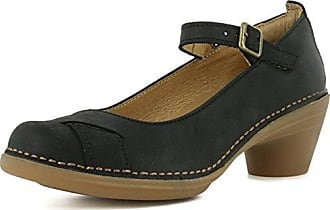 El Naturalista S.A N5004 Pleasant Leaves, Damen Mary Jane Schuhe, Schwarz (Black), 42 EU