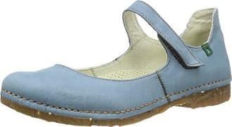N973-C CRUST LEATHER ARANDANO / ANGKOR, Ballerines femme - Bleu - Blu (Blau (Arandano)), 39 EUEl Naturalista