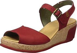 El Naturalista N5022, Zapatos de Tacón con Punta Abierta para Mujer, Rojo (Rioja), 40 EU