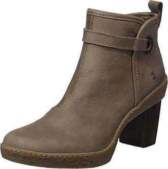 El Naturalista NF77 LUX SUEDE-PLEASANT GRAFITO-WOOD / LICHEN Grigio - Chaussures Low boots Femme