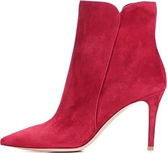 Easemax Damen Klassisch Nubuk Schleife Ankle Boots Mit Absatz Schwarz 34 EU
