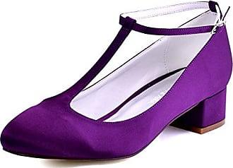 Xianshu Fisch Mund Reizvolle Wasserdichte Flache Mund Hohe Absätze Schuhe(Violett-35)