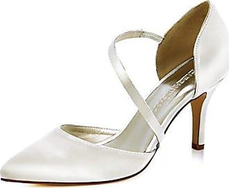 SHOWHOW Damen Nubuk Sexy Metall Spitz Zehen High Heels Pumps Schwarz-7cm 38 EU