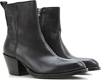 Boots for Women, Booties On Sale, Carbon, Leather, 2017, 6.5 Elena Iachi