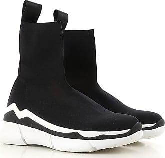 Sneakers for Women On Sale, Black, Stretch Fabric, 2017, 3.5 4.5 7.5 Elena Iachi