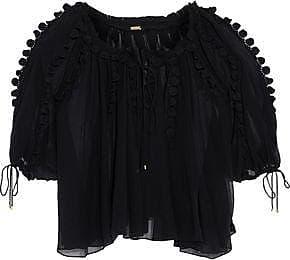 Elie Tahari Woman Jocelyn Lace-trimmed Silk-georgette Blouse Black Size XS Elie Tahari
