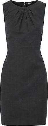 Elie Tahari Woman Rosario Houndstooth Wool-blend Mini Dress Anthracite Size 14 Elie Tahari