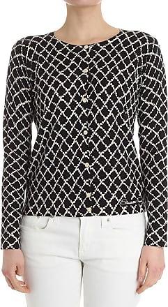 Yellow diamond pattern cardigan Elisabetta Franchi