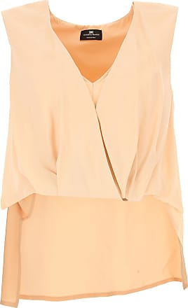 Top for Women On Sale in Outlet, Ivory, Viscose, 2017, USA 14 -- IT 48 Elisabetta Franchi