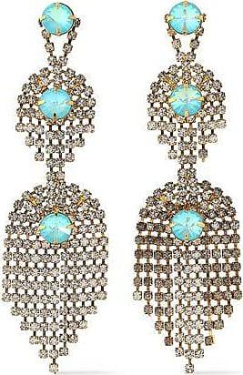 Elizabeth Cole Elizabeth Cole Woman Gold-tone Crystal Earrings Red Size