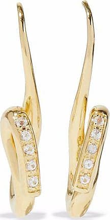 Elizabeth And James Woman Gold-tone Crystal Hoop Earrings Gold Size Elizabeth & James